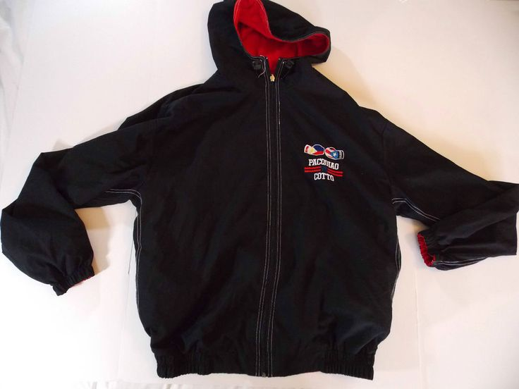 Large Manny Pacquiáo Reversible Jacket Cotto Fire Power MGM Grand Nov 14 2009