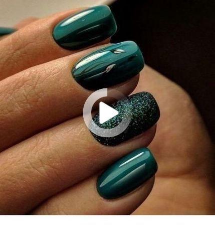 42 ideas nails short gel green nails gelnails