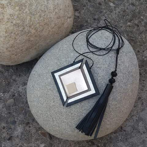 Handmade geometry necklace by L_L.♡