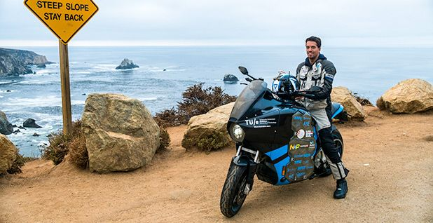 When a team of students set out on a world tour this summer, they chose a motorcycle for maximum coolness — but ditched the fumes.
