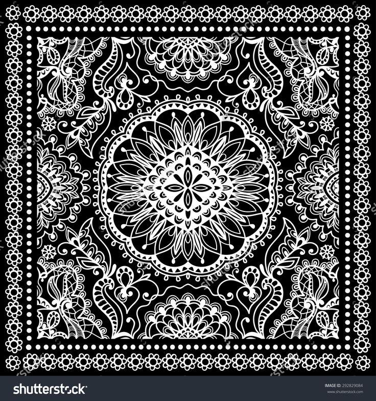 stock-vector-black-bandana-print-silk-neck-scarf-or-kerchief-square-pattern-design-style-for-print-on-fabric-292829084.jpg (1500×1600)
