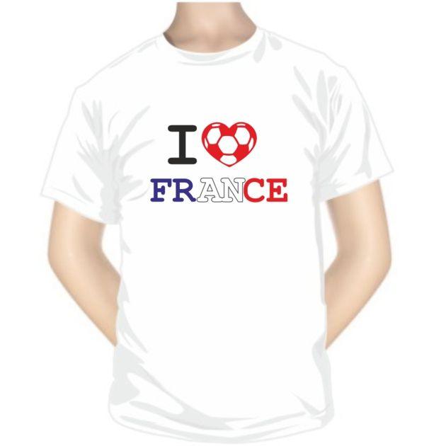 Tee shirt de foot : I love France - Pour les sportifs - SiMedio
