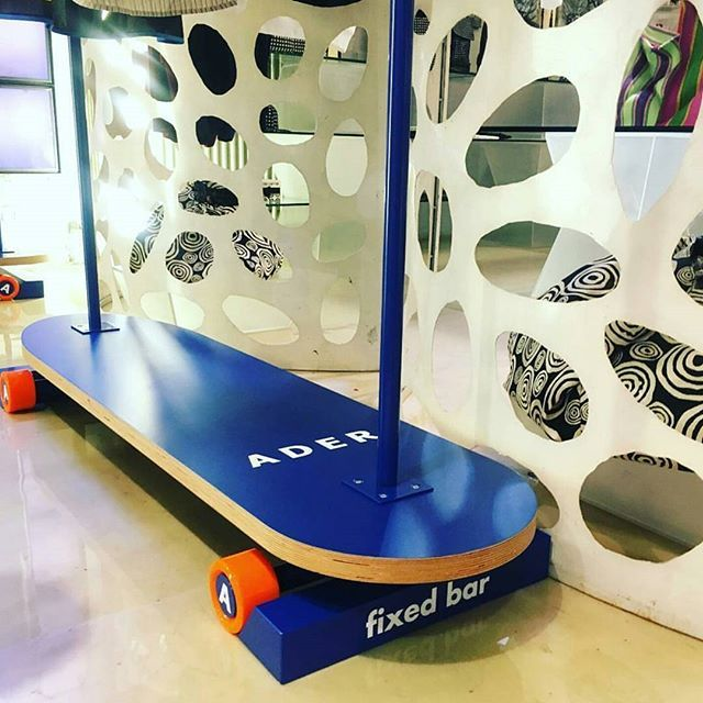 ADER display  skate board clothes rack