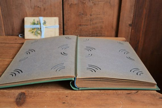 Vintage photo album Postcard album Scrapbook by TallinnVintage