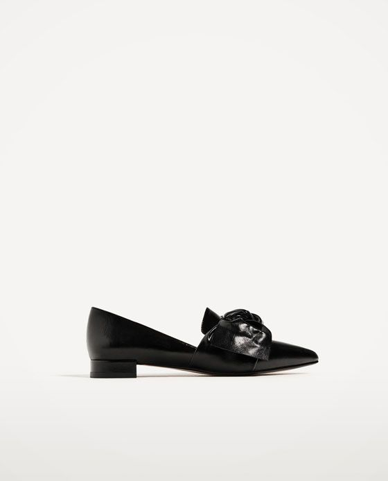 Image 2 of FLAT SHOES WITH BOW DETAIL from Zara