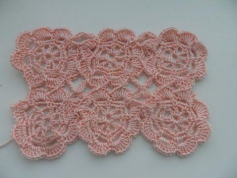 Цветочные мотивы безотрывным способом (crochet motifs) (узор#25)