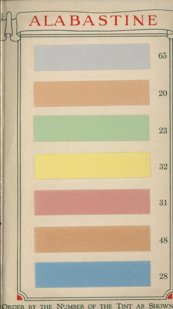 Interior paint colors chart - Alabastine Water Color For Walls Alabastine Water Color For Walls 1920s Interior Colorsinterior Paintcolors