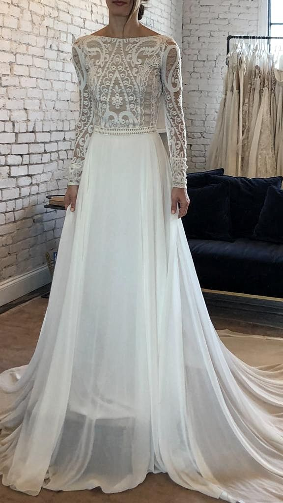c8fdbaa32a8 Parisian style I Melanie by Flora I romantic wedding dress I elegant  wedding dress I low
