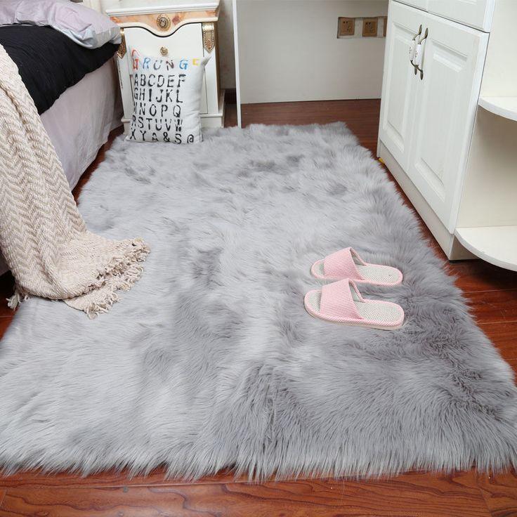 Large Faux Sheepskin Rug Super Size Soft Chair