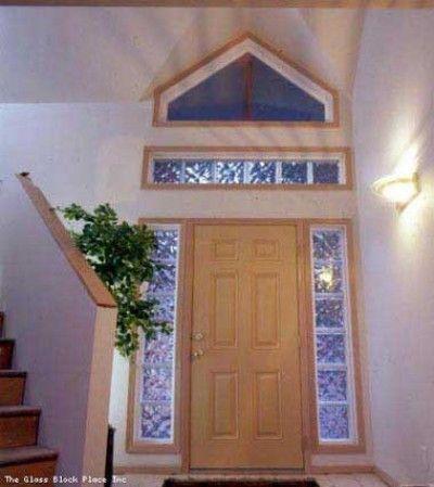Glass Blocks Around The French Doors French Door Ideas