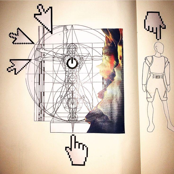 Altermodern sketchbook work