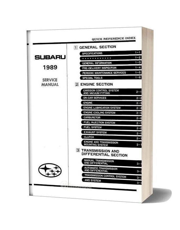 Subaru Ea82 Service Manual Part1 In 2020 Subaru Manual Lubricants