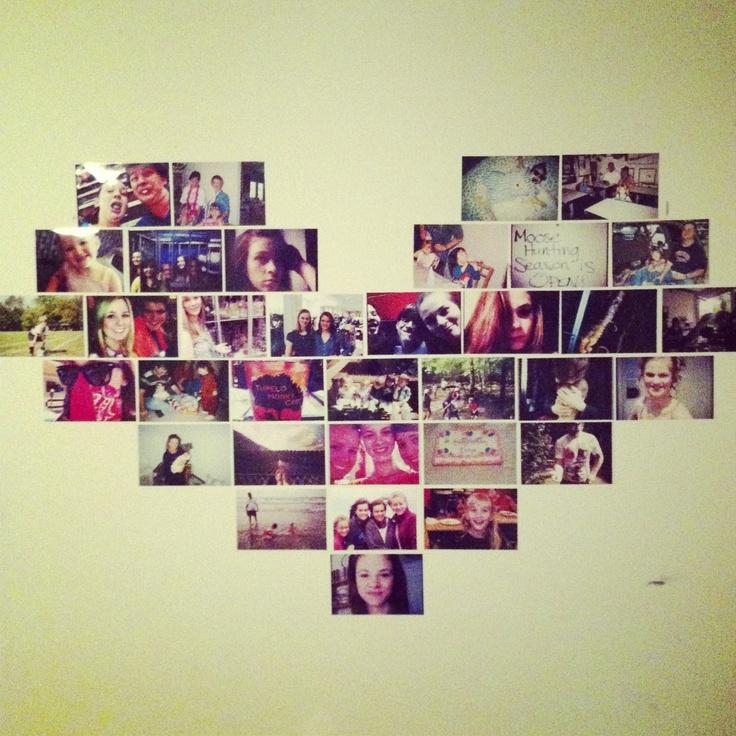 My Diy Heart Photo Collage Decor Diy Pinterest