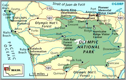Map of Olympic National Park | GORP.com