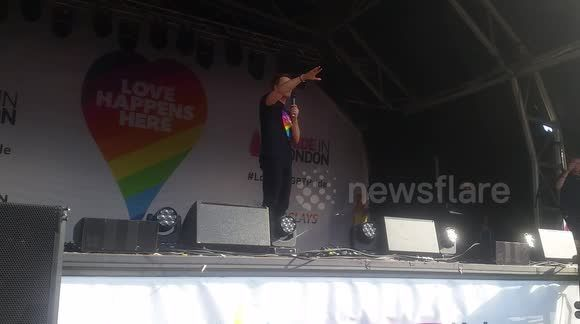 Tom Daley's new husband Dustin Lance Black makes a passionate speech at Pride 2017