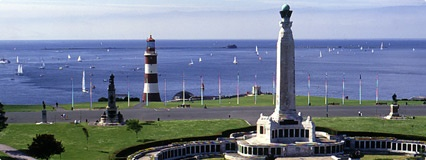 Plymouth Hoe is a historic maritime city.  Visit the historic Barbican, take a trip to view the ships in Devonport or visit the National Marine Aquarium, which has over 400 species spread over six zones. See where Francis Drake is said to have played bowls before sailing to engage the Armada. Smeaton's Tower is the old Eddystone Lighthouse. Climb to the top for the best views over Plymouth Sound and Drake's Island. Adjacent to the Hoe is the Royal Citadel, which was originally built in the…