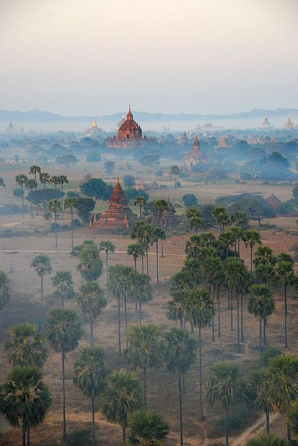 Bagan Temples in the morning mist, Myanmar (by FO Travel)