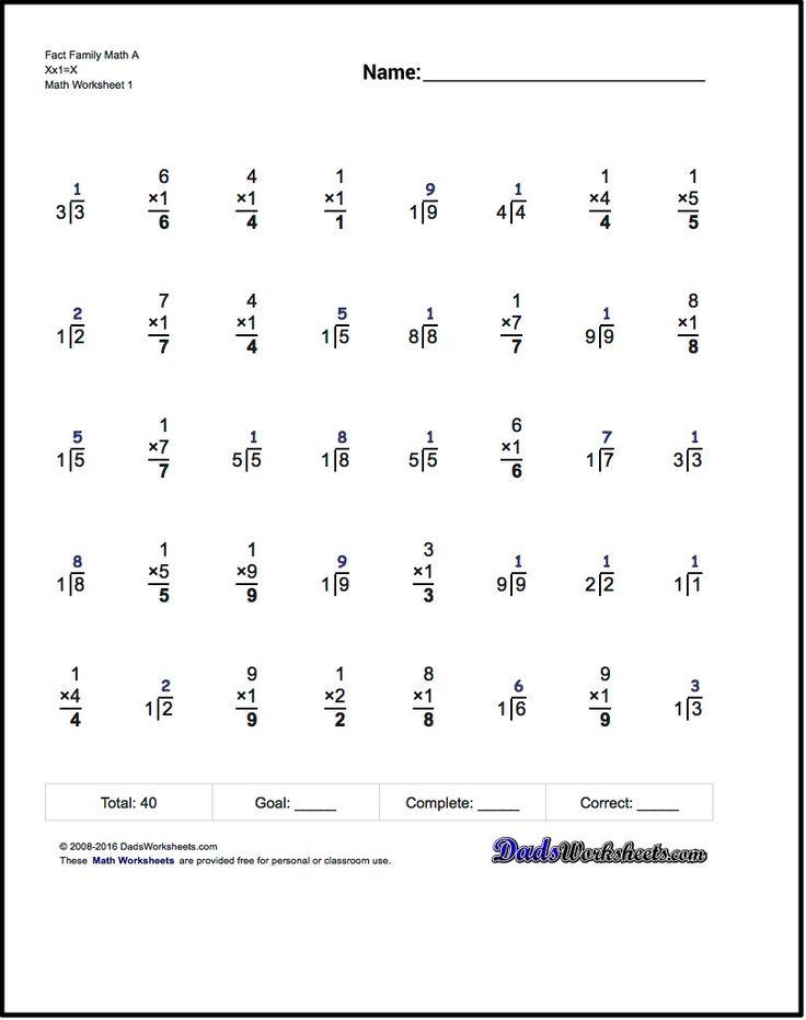 25+ bästa Multiplication timed test idéerna på Pinterest