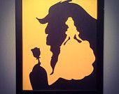 Beauty and the Beast wall art