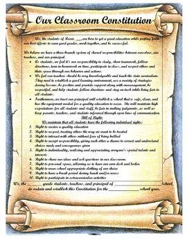 Constitution Day Mini-Unit with Create-Your-Own Classroom Constitution - Sharing Across Desktops - TeachersPayTeachers.com