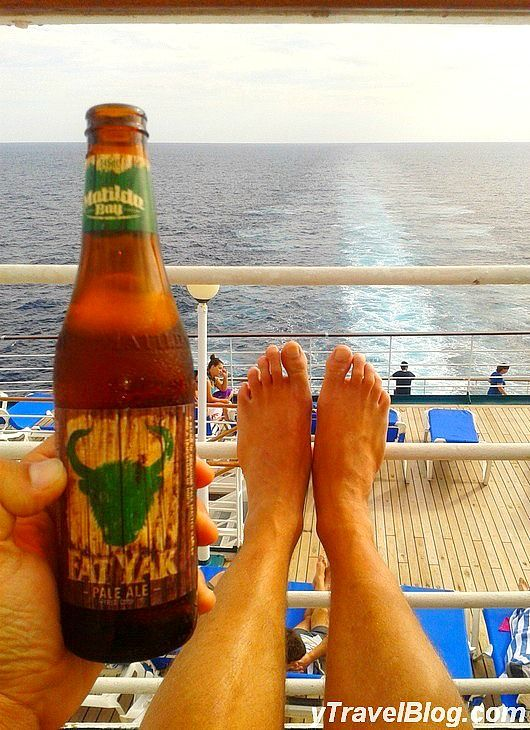 Beer o'clock on P & O Pacific Dawn: http://www.ytravelblog.com/memorable-moments-on-the-p-o-pacific-dawn/
