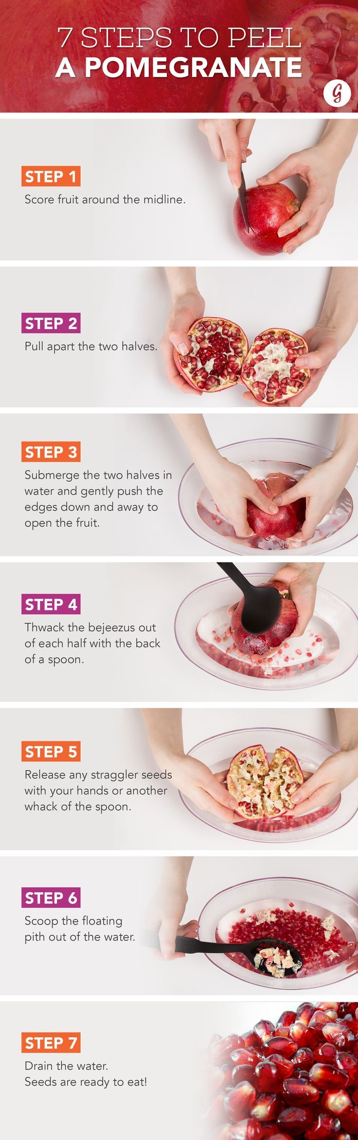 We Tried Every Possible Way to Deseed a Pomegranate. Here's the Best #cooking #tips #pomegranate