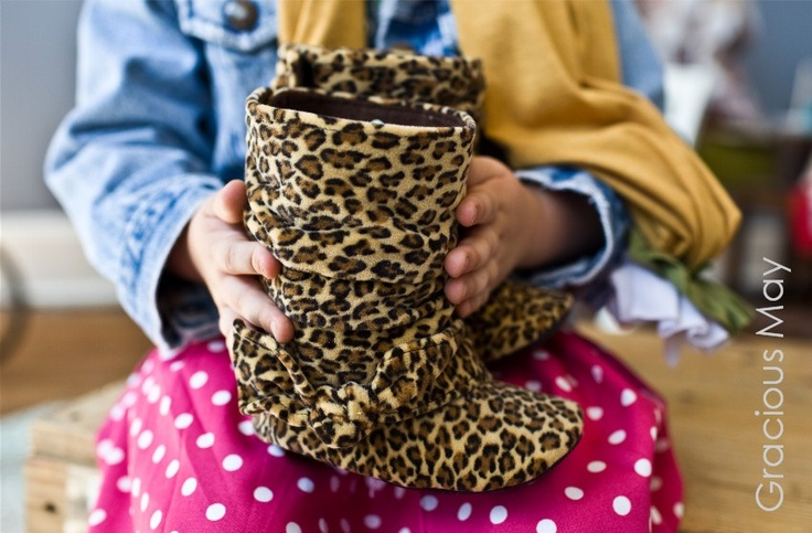 LEOPARD BOOTS! Available in baby AND  toddler sizes. By Gracious May