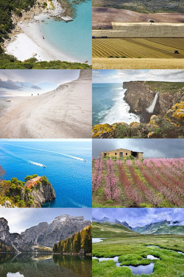 From North to South...let yourself be amazed by the beauty of the Italian Landscapes!