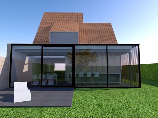 48 best uitbouw images on pinterest architecture for Glazen uitbouw