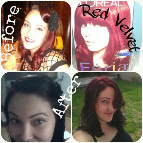 Tried Red Velvet Loreal Feria Hair Dye Didn T Come Out