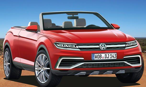 VW Golf SUV Cabrio (2017) - VW plant eine ganze Flotte neuer SUV-Modelle – und dazu gehört auch die neu geschaffene Nische des SUV-Cabrio, die das neue VW Golf SUV Cabrio (2017) füllen soll. Der rund 4,25 Meter kurze Fünftürer ist technisch gesehen ein lu