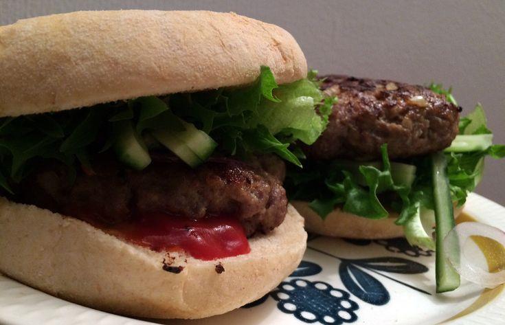 Klassisk hjemmelaget burger