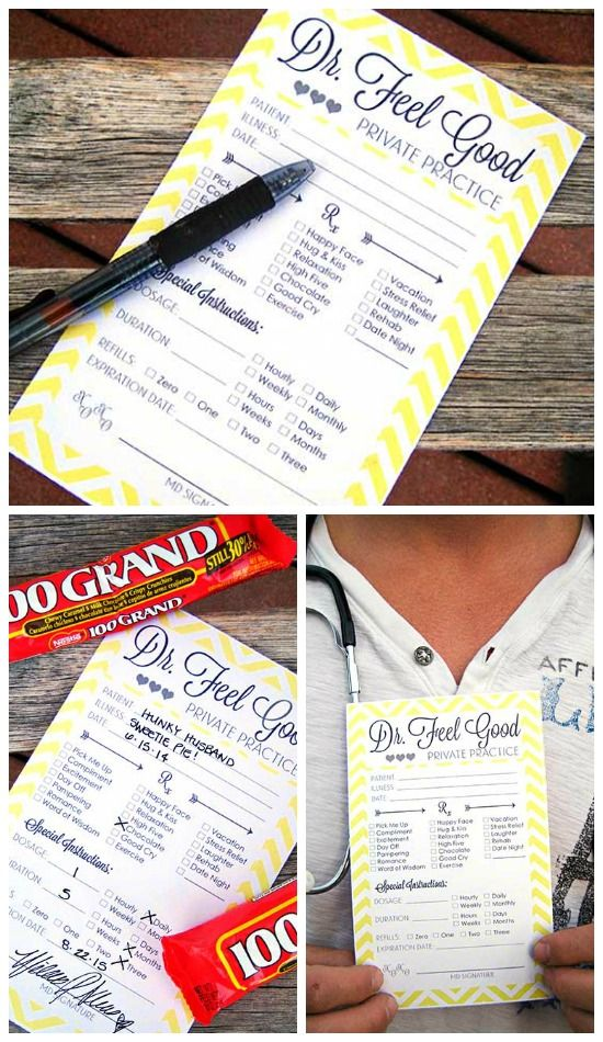 Prescription Printable To Cheer Up Your Spouse