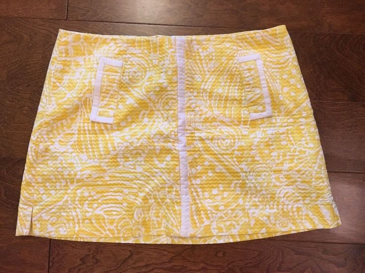Lilly Pulitzer JANUARY Skort in Sea Cups in Sunglow Yellow SEA CUPS Sz 6 shorts    eBay