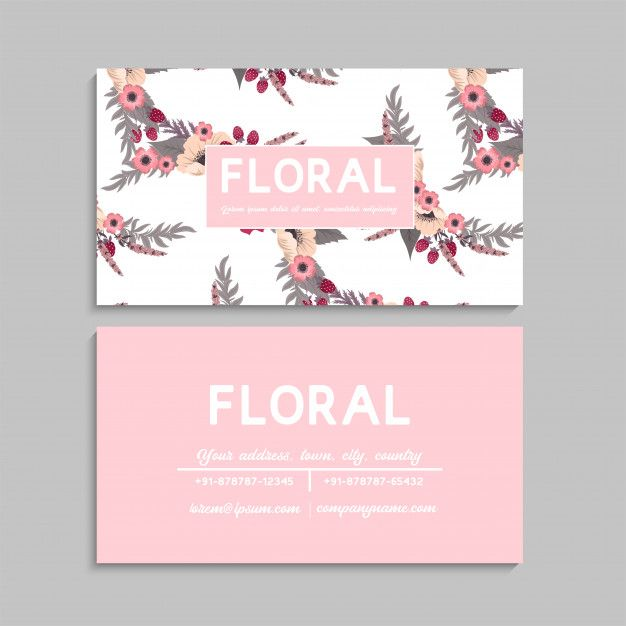 Download Flower Business Cards Pink For Free Business Cards Vector Templates Pink Business Card Floral Business Cards