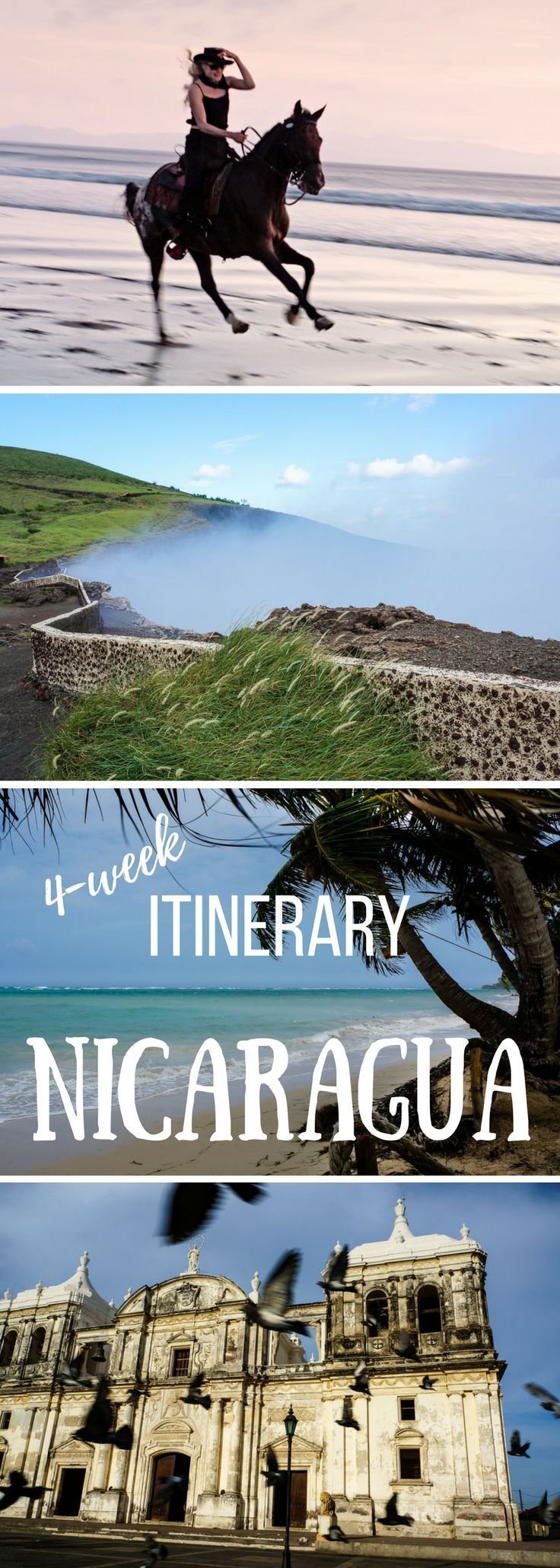 Smoky volcanoes, pristine beaches, stunning colonial cities, and unexplored jungles – Nicaragua steals your heart! Our one-month itinerary covers the main highlights with some bizarre detours: Corn Islands, Rio Indio and Indio Maíz Biological Reserve, the island of Ometepe along with the city of Granada, and the diversified coffee and cigar region of Northern highlands.