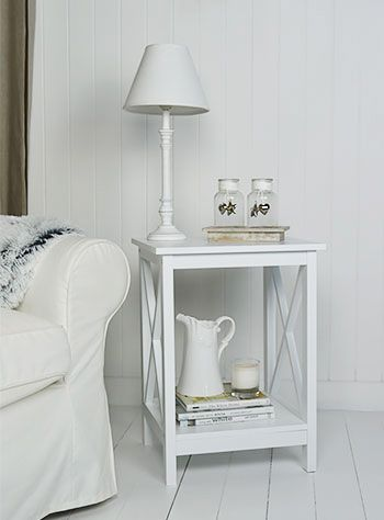 66 best side tables images on pinterest living room furniture henley white side lamp table for living room mozeypictures Gallery