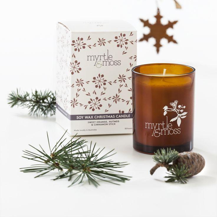 Christmas orange, nutmeg & cinnamon soy wax candle - Christmas in #HTFSTYLE
