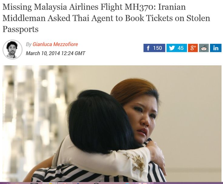 """Missing Malaysia Airlines Flight MH370: Iranian Middleman Asked Thai Agent to Book Tickets on Stolen Passports /// """"According to the FT, the owner of the agency, Benjaporn Krutnait, booked the tickets through a business contact known only by the name of """"Mr Ali"""".""""     """"Right Again"""" /// """"I can confirm that he is not a Malaysian, but cannot divulge which country he is from yet,"""" said Inspector General of Police Tan Sri Khalid Abu Bakar at the Kajang police headquarters."""""""