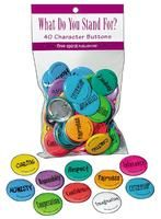 character buttons- hand them out at the end of each day to who showed what trait that day