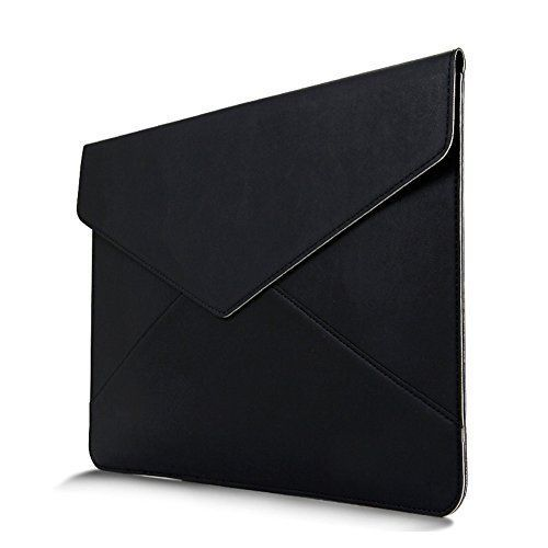 "MacBook Sleeve, InRich 13.3 Inch [ Premium Envelope Soft PU Leather ] Apple New MacBook Sleeve Cover Laptop Notebook Carrying Case Bag for MacBook / MacBook Air / MacBook Pro - 13"" (Black) InRich"
