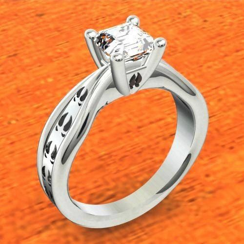 i am in love with this ring and would love it one day as an anniversary - Orange Camo Wedding Rings