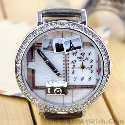 Wow~ Awesome Cartoon Camera Notebook Polymer Clay Watch! It only $34.9 at www.AtWish.com! I like it so much<3<3!