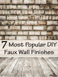 7 Of the most popular faux finishes. These finishes are really cool for furniture re-do's too.