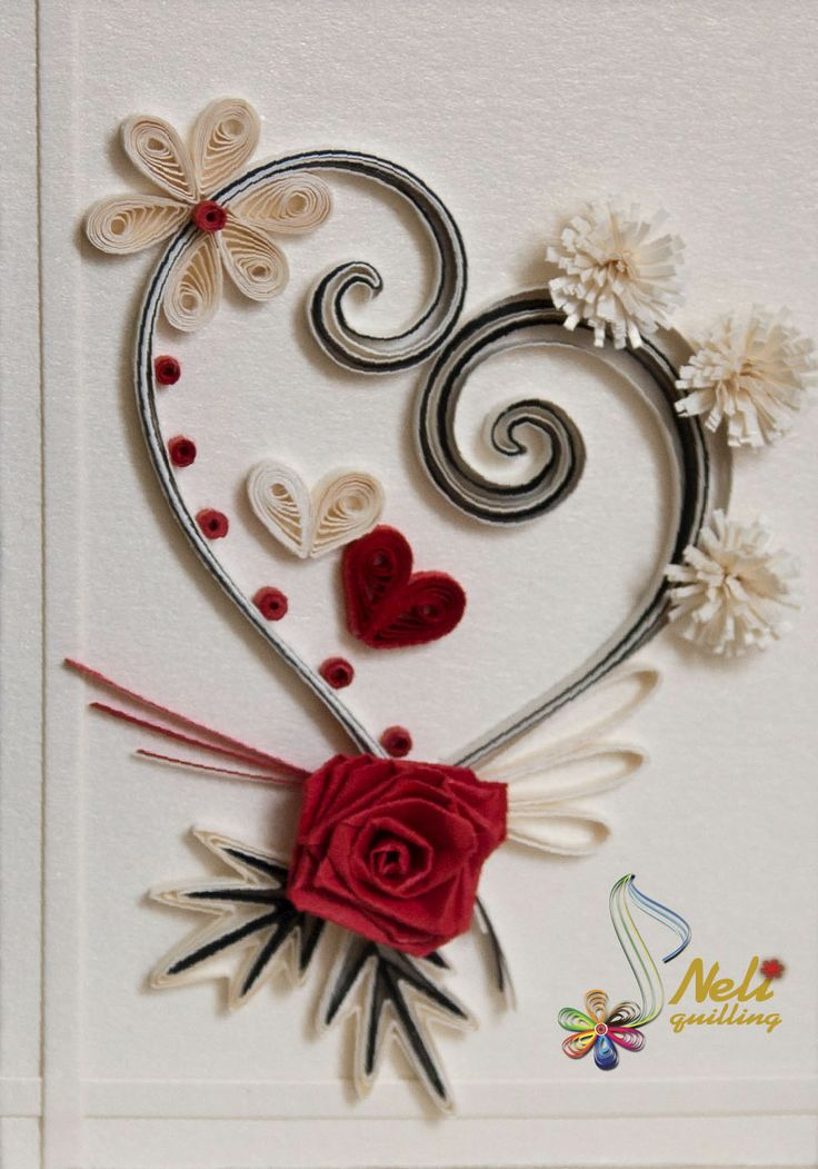 62 best quilling wedding images on pinterest paper for Quilling heart designs