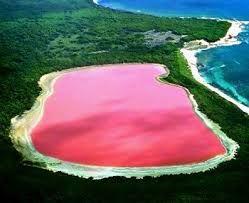 Lago Hillier. Lago rosa Australia