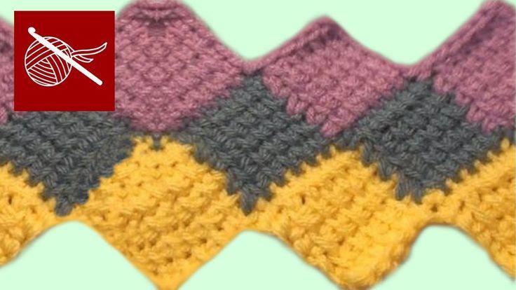 Crochet Entrelac - Stitch How to make Crochet Geek April 27 Video