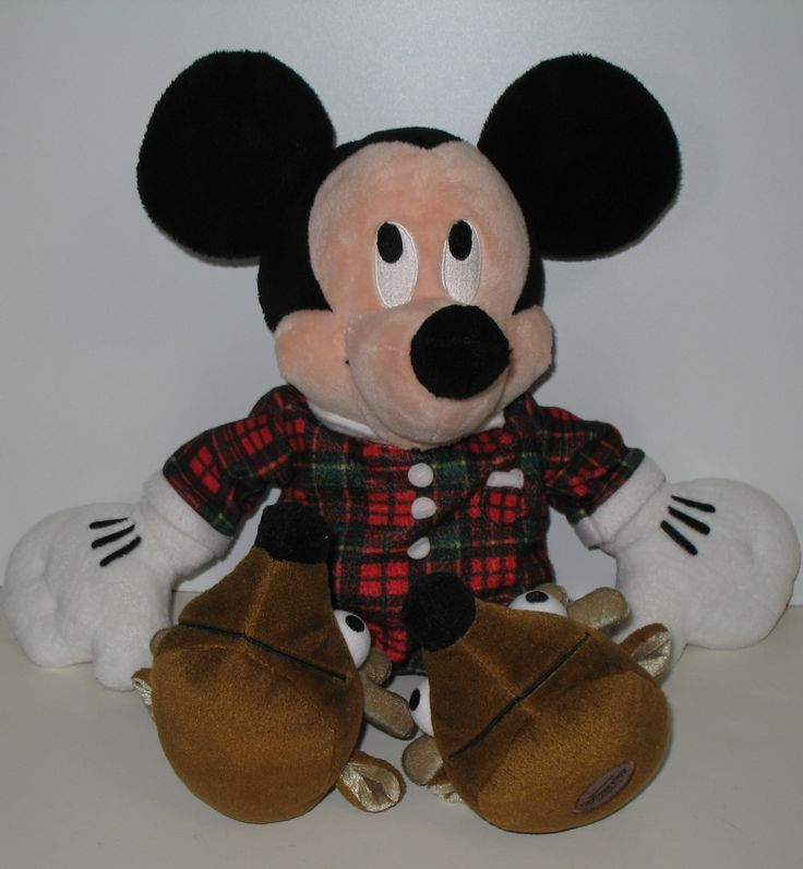 EBAY CLEARANCE SALE. Mickey Mouse has his pjs on and is ready for Christmas morning or maybe even for the night before Christmas! Love his one piece pajamas and his reindeer slippers. This Disney Store Mickey is on sale for $19.95 with FREE shipping.