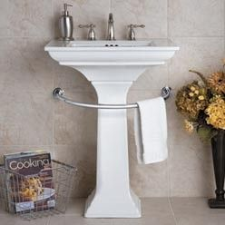 The Pedestal Sink Towel Bar Is A Great Solution For Small Bathrooms This Bathroom Towel