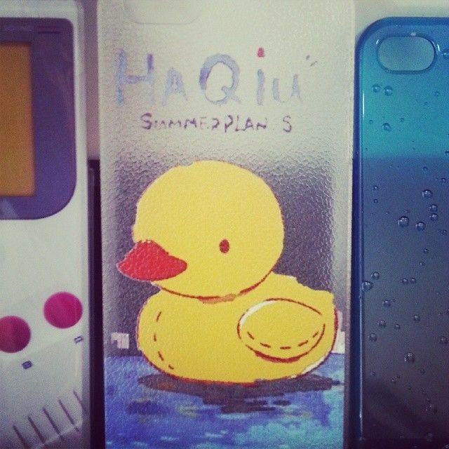 Papera duck per iPhone #papera #duck #summer #estate #estate2014 #summer2014 #cover